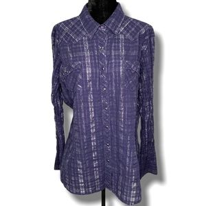 ARIAT FITTED LONG SLEEVE WESTERN STYLE SHIRT SZ XL